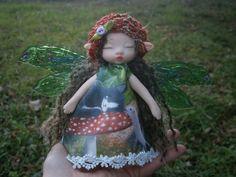 woodland fairy doll clay doll art doll  posable por MundoMagico