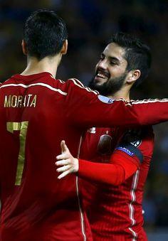 Álvaro Morata and Isco Alarcón - España Spain