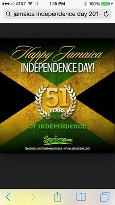 Jamaica Independence Day August 6th 2014..