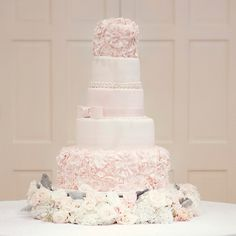 Pink Wedding Cakes from The Knot