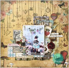Marion Smith Designs: Mad Tea Party layout  by Yuko