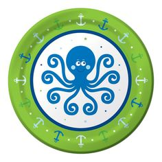 Creative Converting Ocean Party 16 Count Paper Dinner Plates CC
