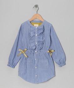 Take a look at this Blue Bon Voyage Dress - Toddler & Girls by Eddie & Stine by Eddie Bauer on #zulily today!