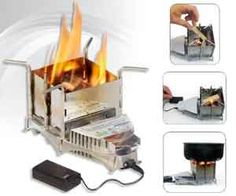 Solhuma Vital Survival Stove. Very cool website as well. Lots of neat stuff!i want this!!!
