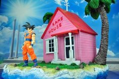 188.00$  Watch now - http://alid6d.worldwells.pw/go.php?t=32691539372 - MODEL FANS Dragon Ball Z jacksdo 35cm Master Roshi /Kame Sennin house gk resin scene toy for Collection 188.00$