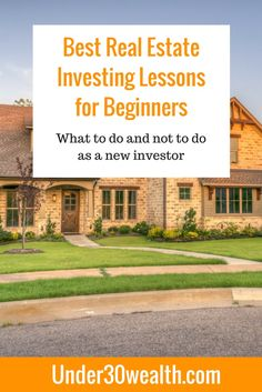 Best Real Estate Investing Course for Beginners - Under 30 Wealth Real Estate Courses, Real Estate Tips, Selling Real Estate, Investment Property, Rental Property, Investment Group, Real Estate Investor, Real Estate Marketing, Getting Into Real Estate