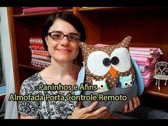 PaP - Almofada porta Controle Remoto Retalhildo - Paninhos e Afins - EXP...