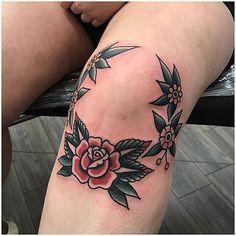 Originales Y Tradicionales Tatuajes En La Rodilla Para Mujer