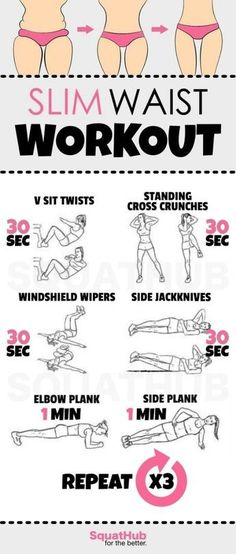 Slim Waist Workout That Gives You A Hourglass Figure