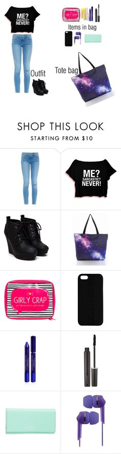 """""""Shopping at the mall"""" by somegirlnamedriaa ❤ liked on Polyvore featuring Frame Denim, Happy Jackson, Maison Takuya, By Terry, Laura Mercier, Kate Spade and Coby"""
