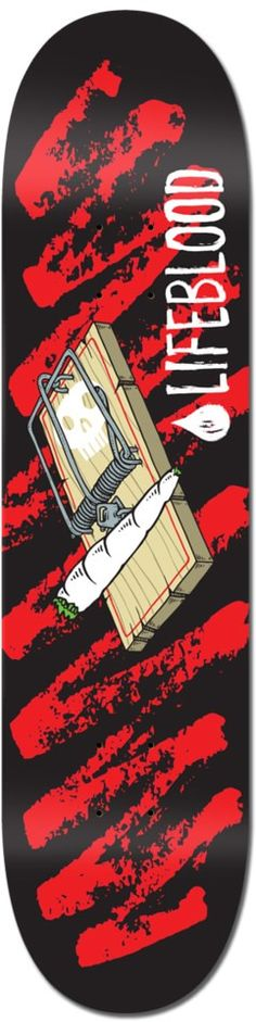 Lifeblood Mouse Trap 8.25 Skateboard Deck - Skate Shop > Decks > Skateboard Decks