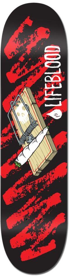 Lifeblood Mouse Trap 8.25 Skateboard Deck - Skate Shop > Decks > Skateboard Decks