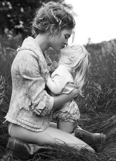 A Mother & daughter portrait that... Yeah, is Sweet except one thing... Where are Mom's pants????!!-still cute