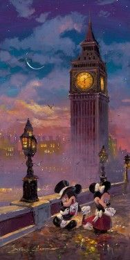 """Disney """"MICKEY AND MINNIE IN LONDON (DELUXE)"""" Size: 36 x 18 