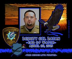 In Memoriam: Deputy Sheriff Gil Datan. Officer Down, Support Law Enforcement, Fallen Officer, Coos Bay, Local Hero, Fallen Heroes, Thin Blue Lines, Blessed, Deputy Sheriff