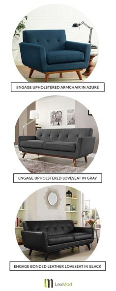 Live to lounge? Now you can do so in style with Lexmod's array of modern furniture. Whether you're looking to relax after a long day at work, or hosting a dinner party, the Engage series is perfect for any occasion. Visually appealing and wonderfully comfortable - really, what's not to love?