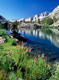 Hiking- Lake on John Muir trail
