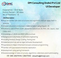 Ui Developer, Data Structures, Job Posting, Job Description, 6 Years, How To Apply, Positivity, Optimism