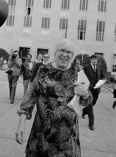 """Madalyn Murray O'Hair (04-13-19 – 09-29-95) was an American atheist activist. She was the founder of the organization """"American Atheists"""" and served as its president from 1963 to 1986. She is best known for the Murray v. Curlett lawsuit, which led to a landmark Supreme Court ruling ending official Bible reading in American public schools in 1963. Unfortunately Satan used O'Hair to strike a heavy blow to our country by taking Bible reading out of the public schools. Now we reap what was sown."""