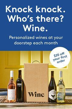 Great wines starting at just $13 a bottle, delivered to your door.
