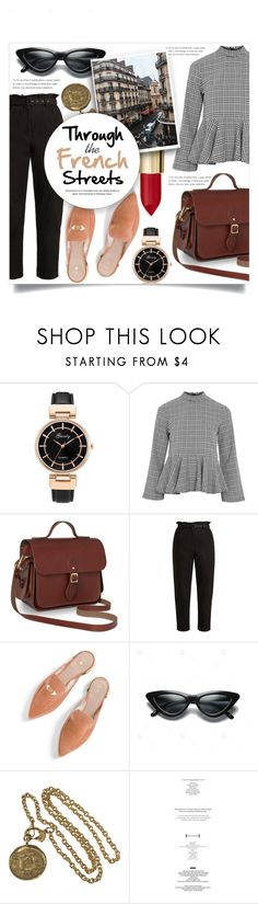 """Through the French Streets"" by litenfels ❤ liked on Polyvore featuring Topshop, Isa Arfen, Stuart Weitzman, Chanel and StyleNanda"