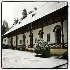 Sinaia Monastery in a Spring day :) I know, it doesn't seem right with this fresh layer of snow, yet March came in as a lamb and came out as a lion :) Spring Day, Romania, Lamb, Travel Destinations, March, Snow, Fresh, Outdoor, Beautiful
