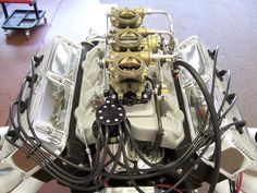 This is a 1958 392 Hemi from a Imperial that I restored back in It is a museum quality restoration. This is a customers 392 that has been reb Hemi Engine, Car Engine, Motor Engine, Performance Engines, Performance Cars, Chrysler Hemi, Race Engines, Combustion Engine, Pony Car
