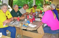 Adele Argot Lions Club Diners enjoy the food at the Shartlesville picnic.
