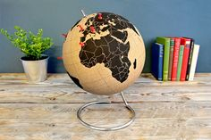 Pinpoint Your Travels on the Cork Globe - Colossal