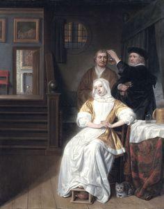 "La visita médica (""The anaemic lady""). Samuel Dirksz van Hoogstraten. 1660. Localización: Rijksmuseum (Ámsterdam). https://painthealth.wordpress.com/2016/05/20/la-visita-medica/"