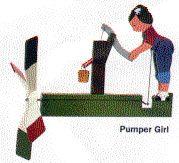 Pumper Girl Whirligig