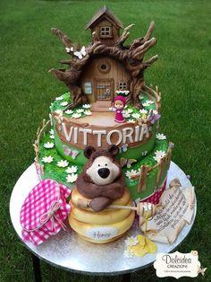 Torta Masha e Orso - Masha and the Bear cake