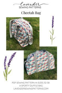 Pdf Sewing Patterns, Different Fabrics, Travel Bag, Cheetah, Drawstring Backpack, Lavender, Sporty, Pockets, Bags