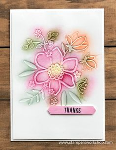 A fun technique for colouring embossed images (embossing folders). #stampersworkshop #stampinup