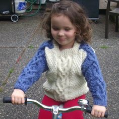 Conor aran cable sweater for toddlers PDF knitting by PurplePup