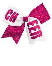 CHEER Glitter Performance Hair Bow - AC355