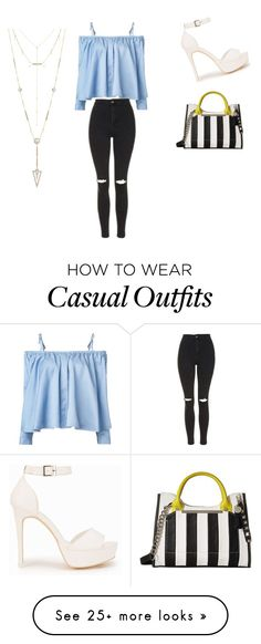 """casual date"" by ninagroen2 on Polyvore featuring Sandy Liang, Topshop, Nly Shoes, Steve Madden and House of Harlow 1960"