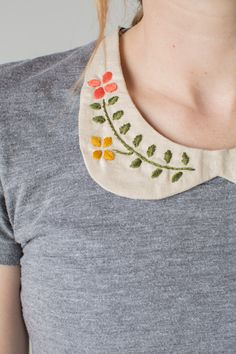 Hand embroidered Peter Pan collar & Craftsy giveaway - The House That Lars Built