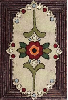 penny rug mat. love it!