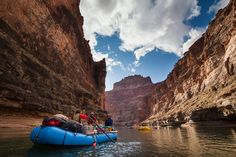 How All 50 States Got Their Names -- Rafts float down the Colorado river in the Grand Canyon National Park. Grand Canyon National Park, Parc National, National Parks, Colorado River, Canyon Colorado, 50 States, United States, Whitewater Rafting, Adventure Activities