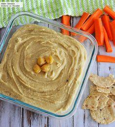 Como preparar un auténtico Hummus. Receta Healthy Vegetable Recipes, Vegetarian Recipes, Healthy Snaks, Guacamole, Arabian Food, Low Calorie Desserts, Lebanese Recipes, Galette, Sweet And Salty