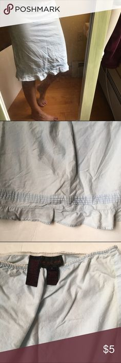 ⭐️Ralph Lauren skirt Light blue ruffle at the bottom skirt.  Elastic waist.  Slight discoloration Ralph Lauren Skirts
