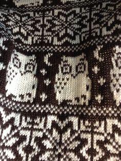 Ravelry: loudoubleknitter's Owl Fair Isle Cushion