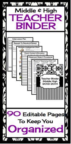 1000 images about teacher binders on pinterest teacher