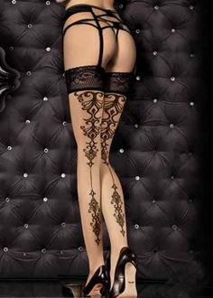 Tribal Tattoo Stockings