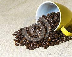 Yellow Mug Filled With Coffee Beans - Download From Over 26 Million High Quality Stock Photos, Images, Vectors. Sign up for FREE today. Image: 27064305