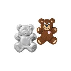 Diese niedliche #Teddy Bär #Backform von #Wilton ist aus Aluminium und hat ein Format von 34 x 25 x 5cm. Novelty Cakes, Cake Tins, Cupcakes, Gingerbread Cookies, Smurfs, Bakery, Teddy Bear, Character, Animals