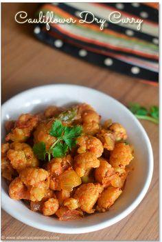 Cauliflower Curry | Gobi Dry Sabzi Recipe | Sharmis Passions