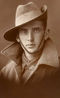 unknown Australian WW1 soldier that I have ever seen.  From the Australia War Memorial collection.