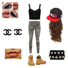 Going out with friends by briruiz on Polyvore featuring polyvore, fashion, style, Forever New, True Religion, Timberland, Valentino and OBEY Clothing